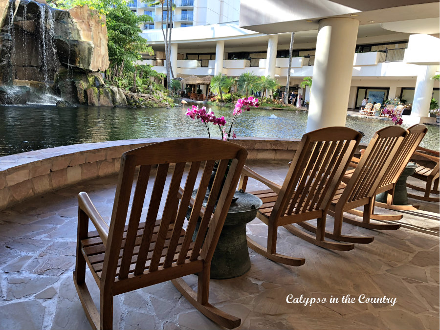 Rocking Chairs by Waterfall