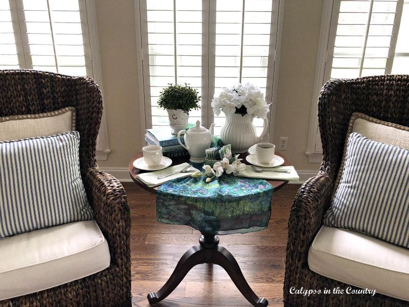 spring tea table