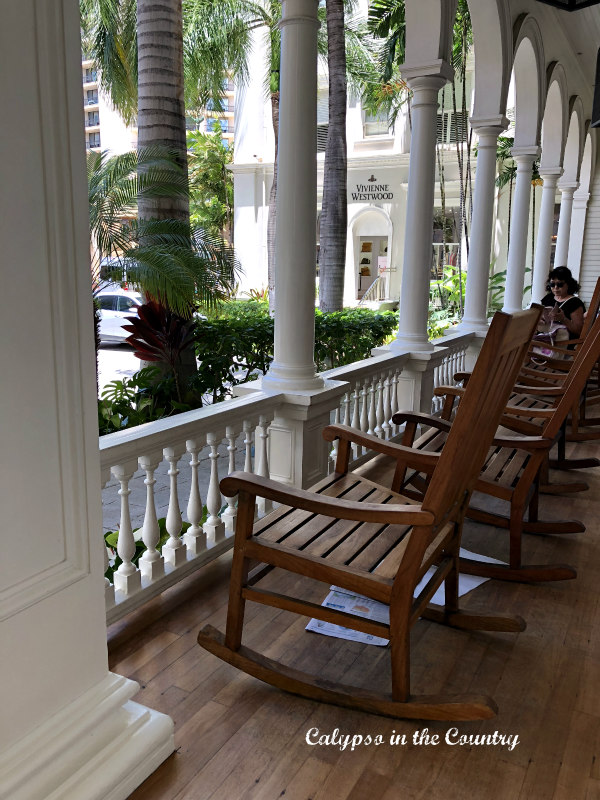 Rocking Chairs on Porch in Hawaii - the best place for outdoor rocking chairs!