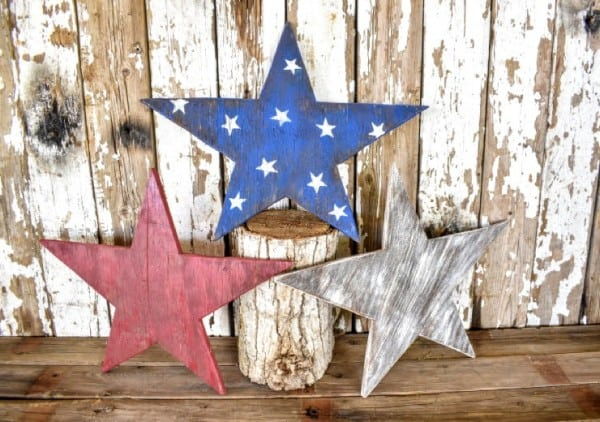 Wooden Patriotic Stars