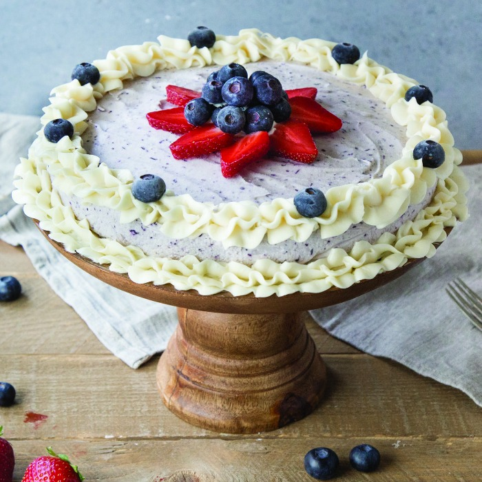 Simple Summer Recipes - Red White and Blue Ice Cream Cake