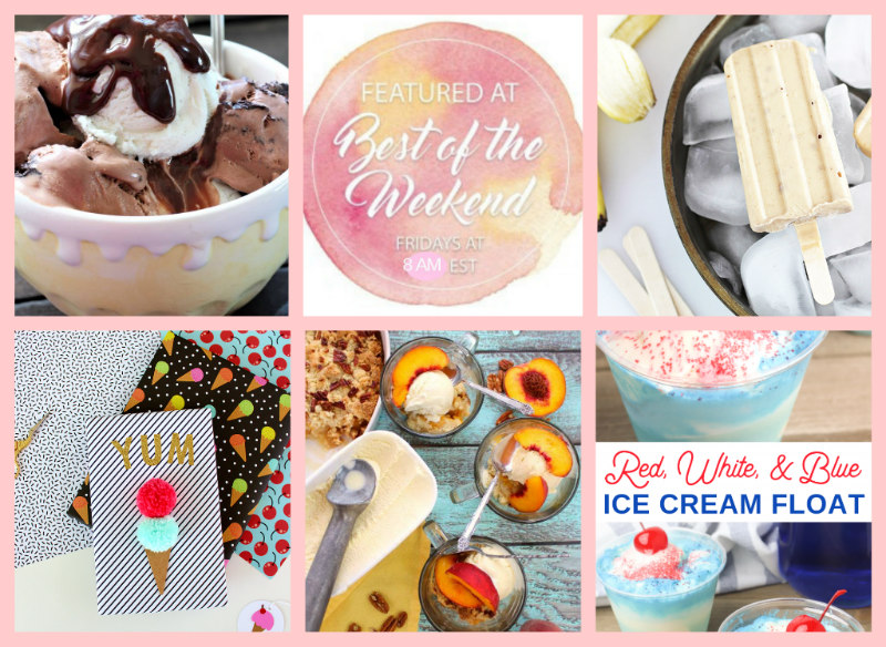 Ice Cream Inspired Treats at Best of the Weekend Link Party