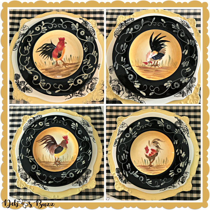 Fall Farm Rooster plates