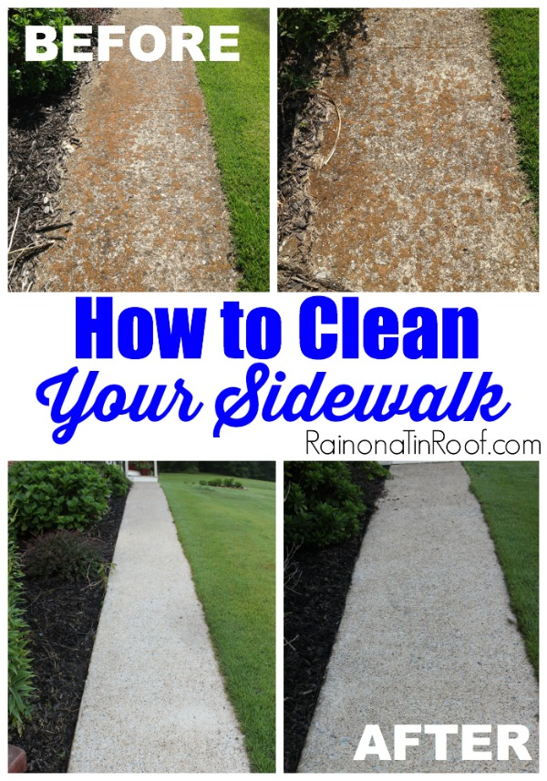 tips to clean your sidewalk