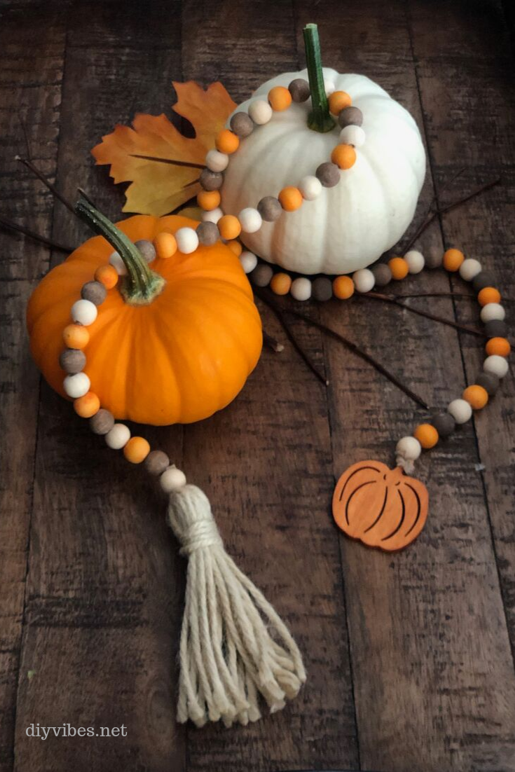 pumpkins and farmhouse beads