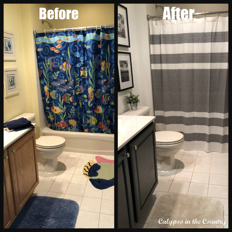 Boys' Bathroom Before and After