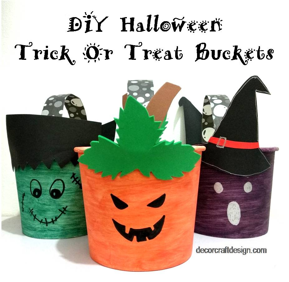 DIY Trick or Treat Buckets feature from Decor Craft Design