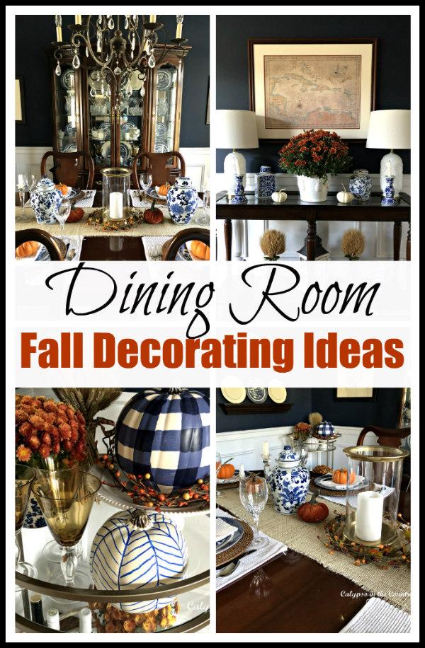 Navy Dining Room - Fall Decorating Ideas