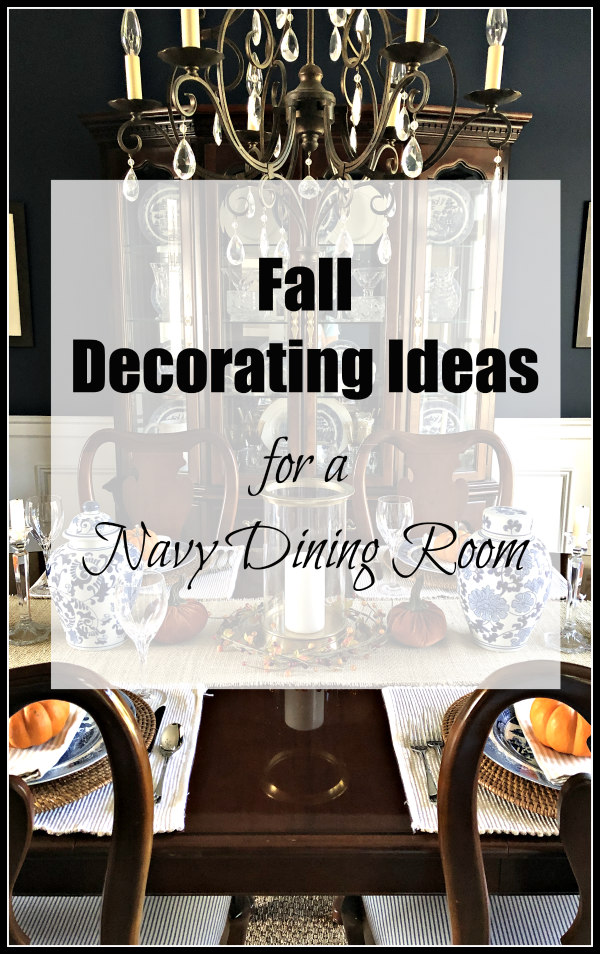 Fall Decorating Ideas - Embracing Fall in the Dining Room