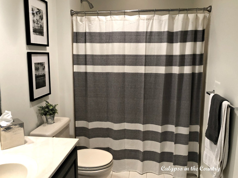 Gray and White boys bathroom makeover