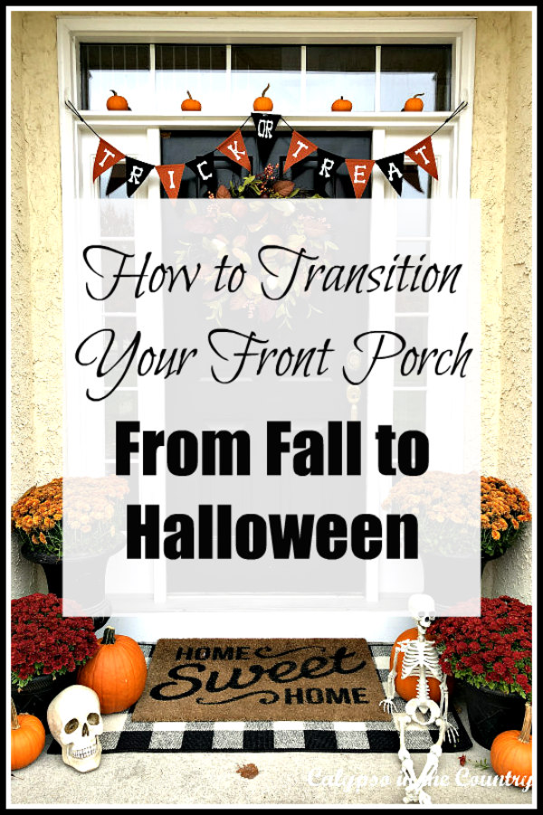 From Fall to Halloween - decorating ideas for your front porch