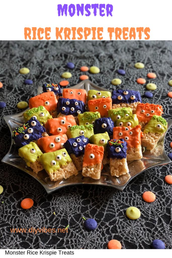 Monster Rice Krispy Treats feature - DIY Vibes