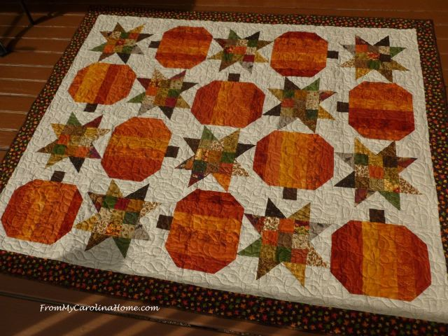 Pumpkin Quilt - fall colors
