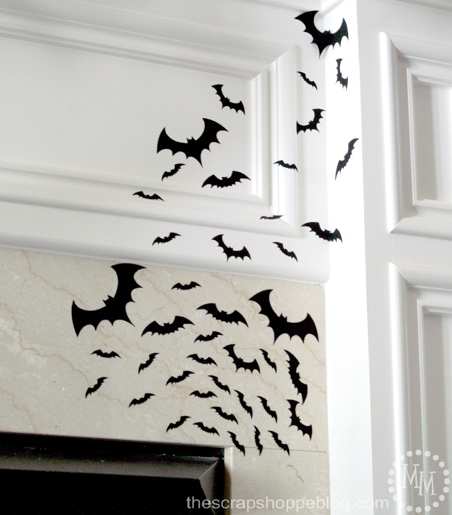 Halloween - DIY Flying Bats from The Scrap Shoppe