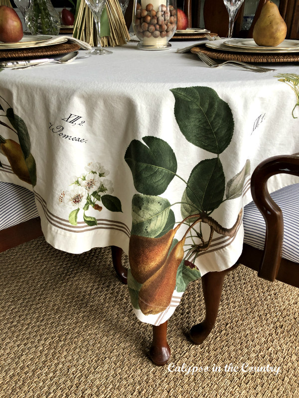 Botanical Tablecloth for Thanksgiving