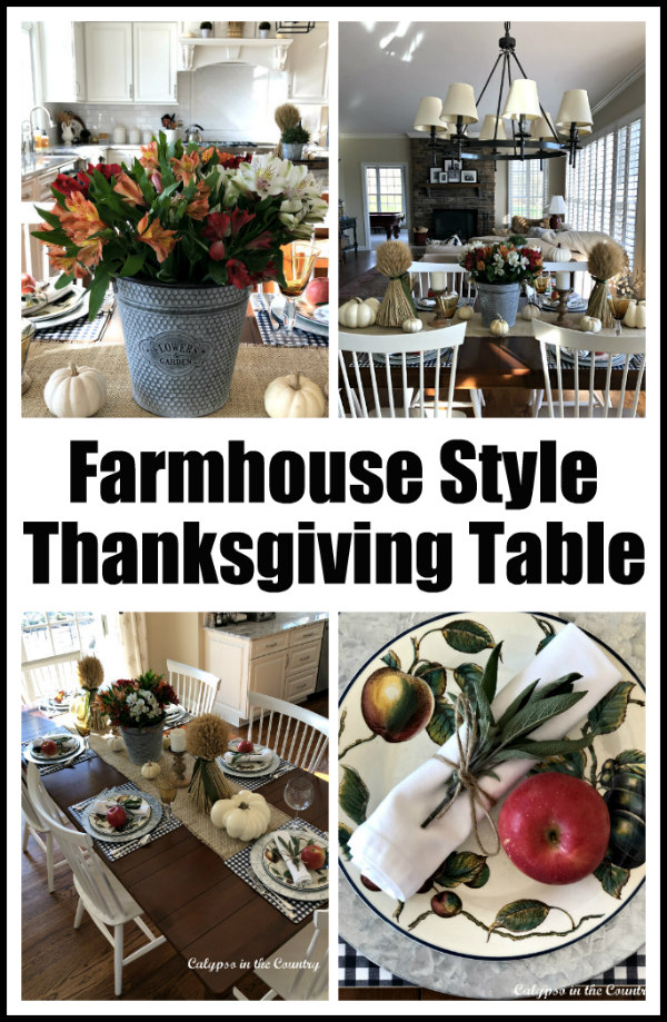 Casual Farmhouse Style Thanksgiving Table