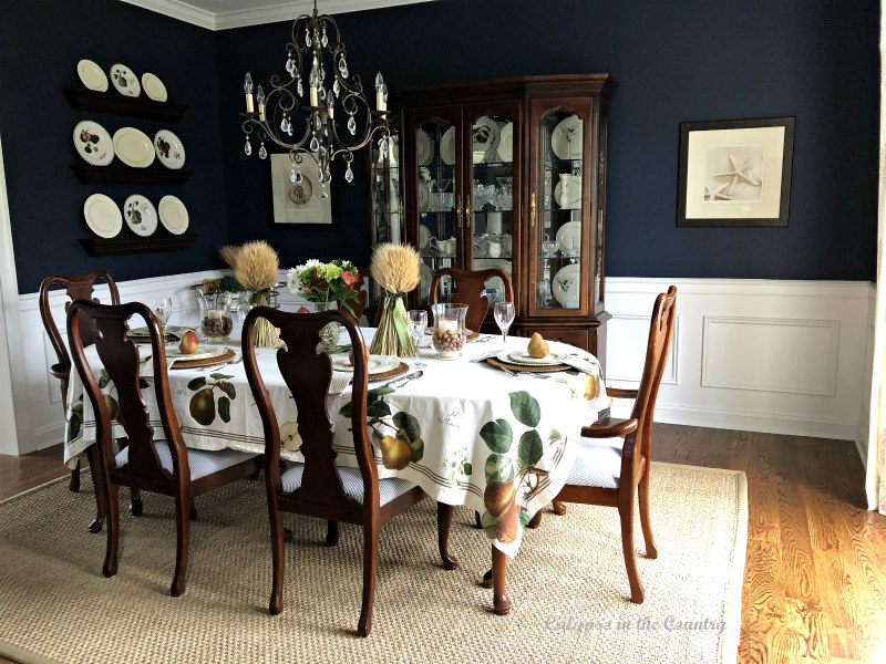 Formal Navy Dining Room