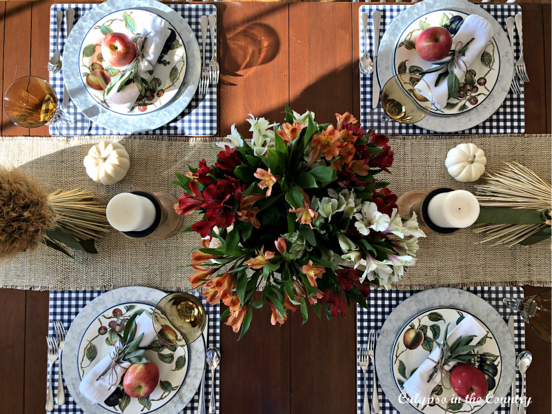 Top view of Thanksgiving Table