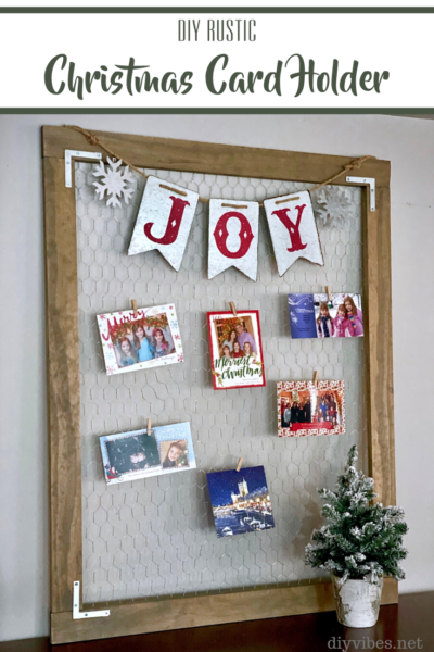 Christmas card holder feature