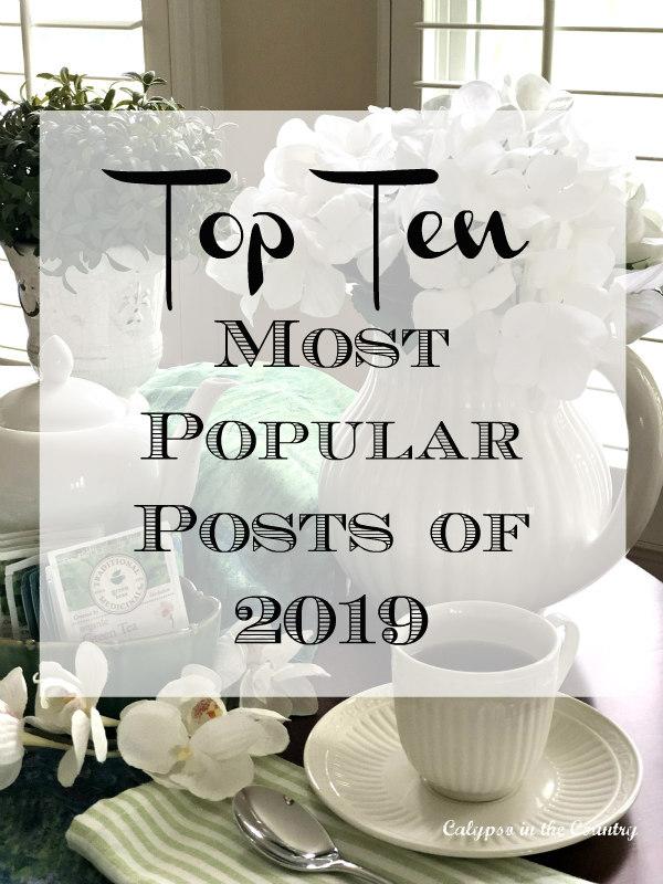 Top Ten Most Popular Blog Posts 2019