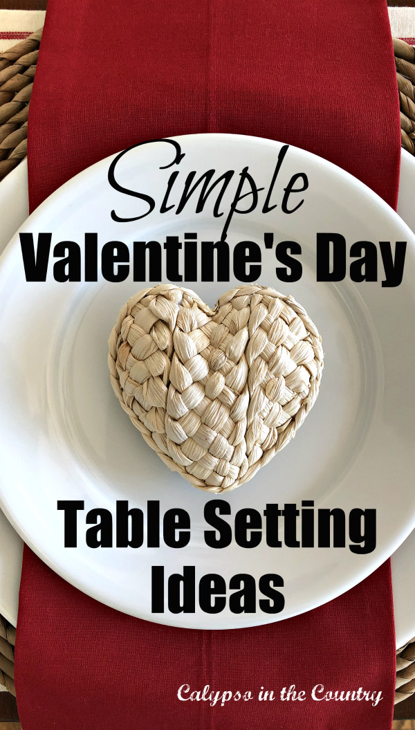 Simple Valentine's Day Table Setting Ideas