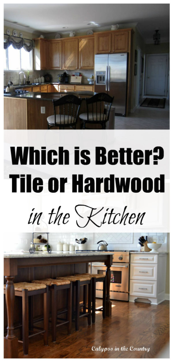 tile vs hardwood in the kitchen