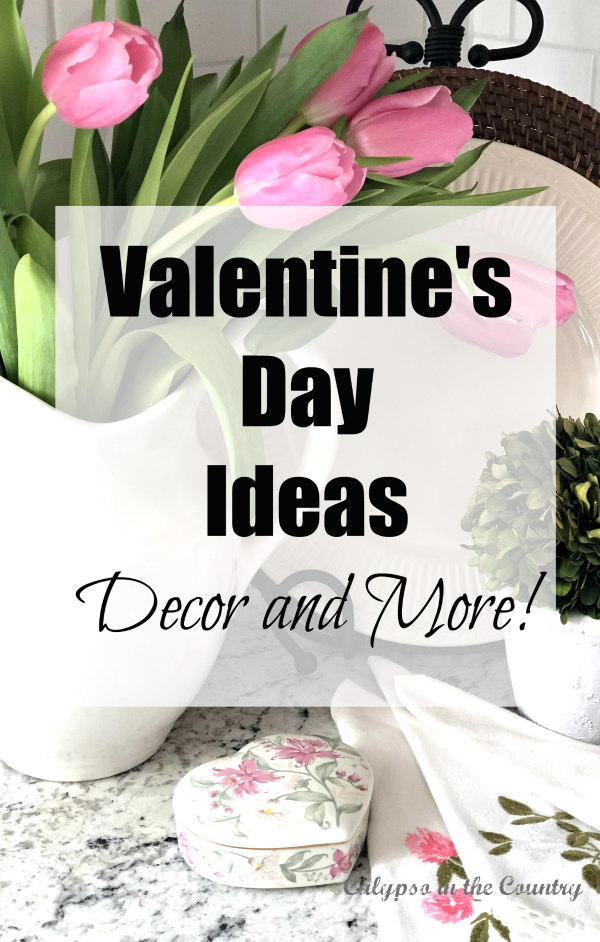 Valentine's Day Ideas - pink tulips in white vase