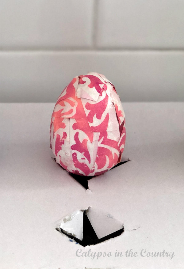 Pink Decoupaged Easter Egg