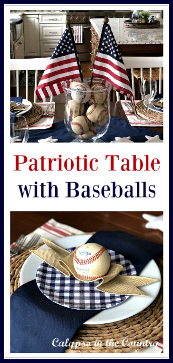 How to Decorate a Patriotic Table with Old Baseballs