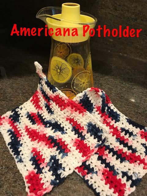 Americana potholder - a fun summer break project