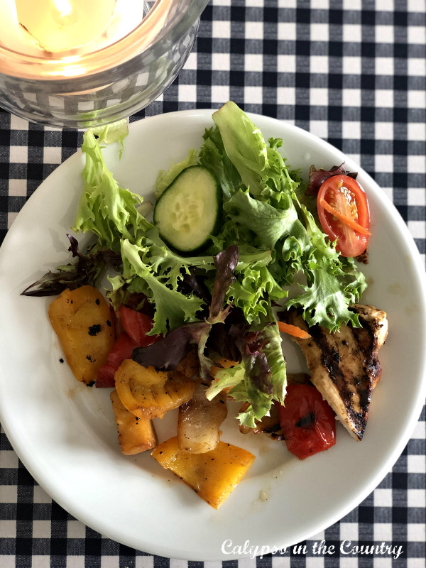Grilled Veggies and salad - simple summer recipes