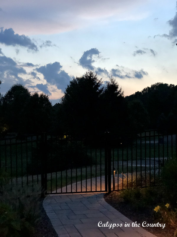 Sunset and Summer Nights on the backyard patio