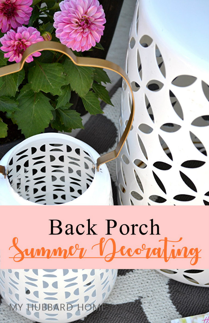 Back Porch Decorating feature - staying busy at home
