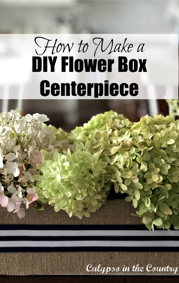 DIY Flower Box centerpiece - use a simple cardboard box and things you have in your home