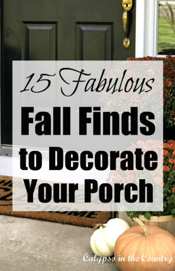 Fall Finds for Decorating Your Porch
