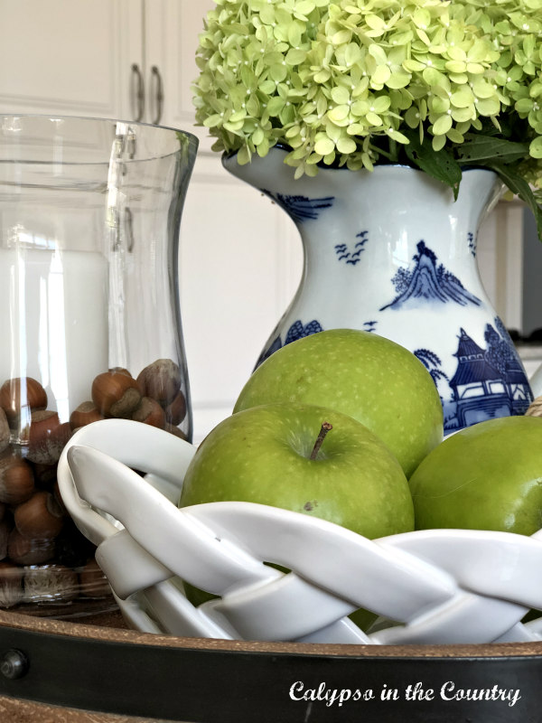 Green apples and Hydrangeas for early fall