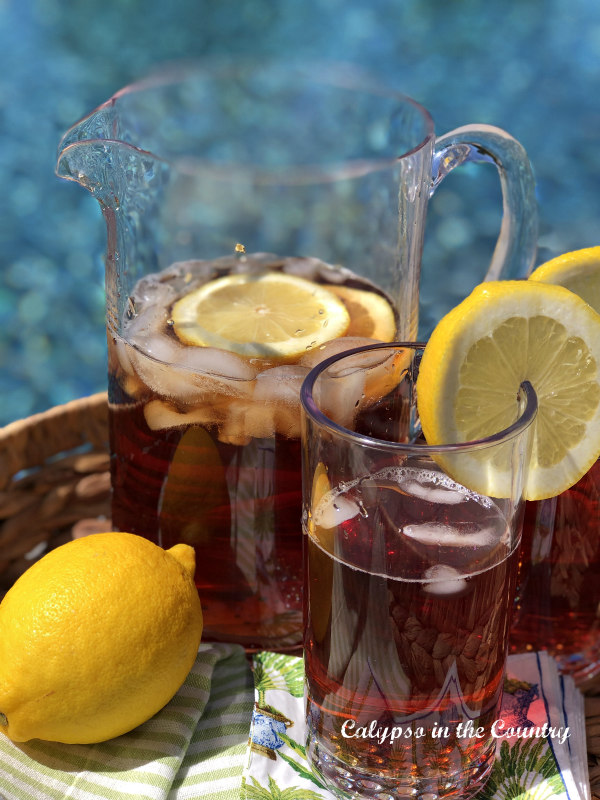 Iced Tea by the Pool - refreshments for your backyard staycation