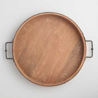 Rustic Round Tray - an essential for fall decor