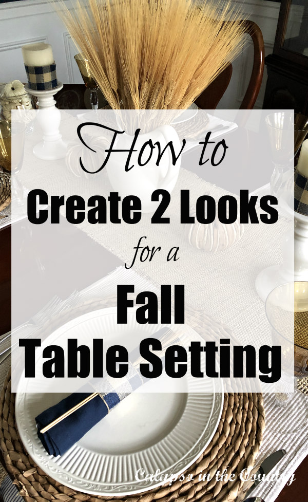 Autumn Tablescape Ideas - Create 2 Looks