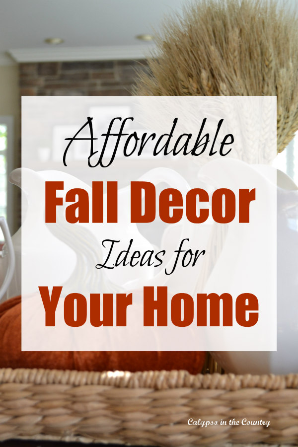 Affordable Fall Decor Ideas for Your Home - A Shopping Guide