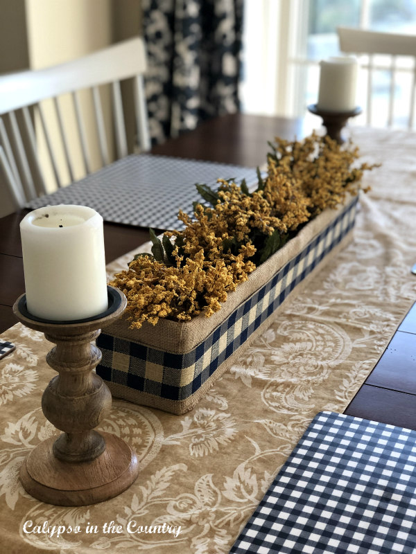 Buffalo Check Centerpiece - Autumn Tablescape Ideas
