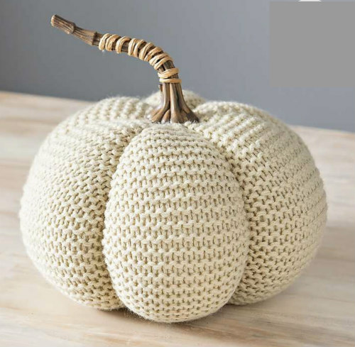 Sweater pumpkin - affordable fall decor ideas for the home