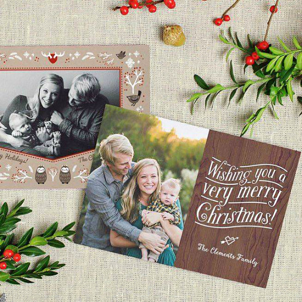 Basic Invite Merry Christmas Card - Personalized Holiday Cards