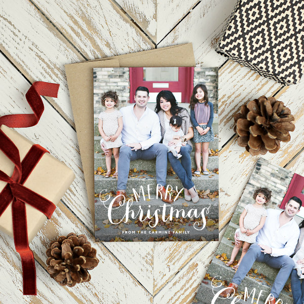 Merry Christmas Card from Basic Invite