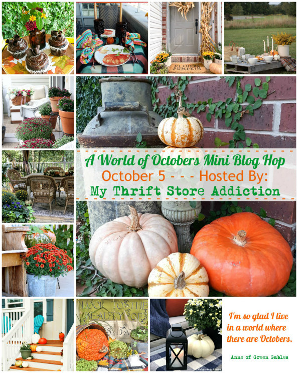 World of Octobers blog hop - easy fall outdoor decorating ideas