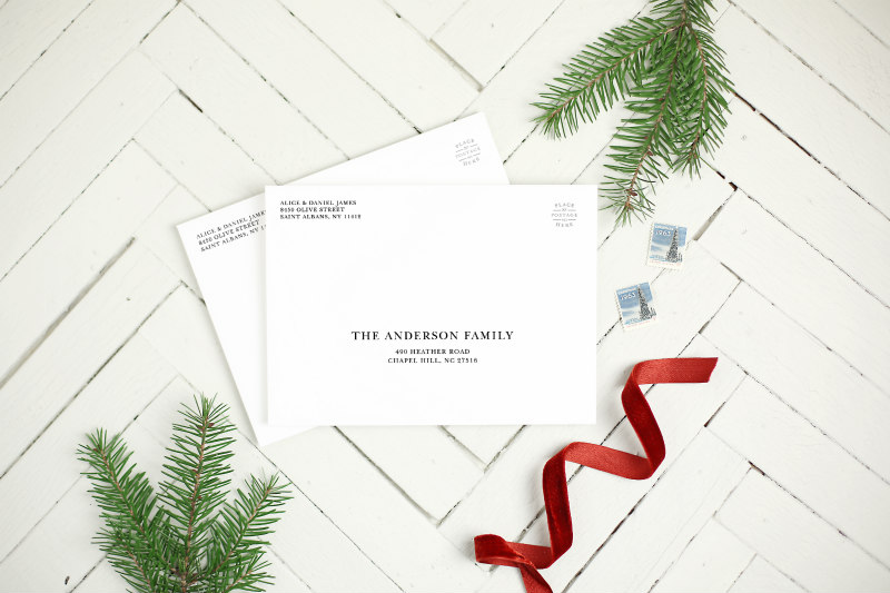 Envelopes for Basic Invite - Personalized Holiday Cards