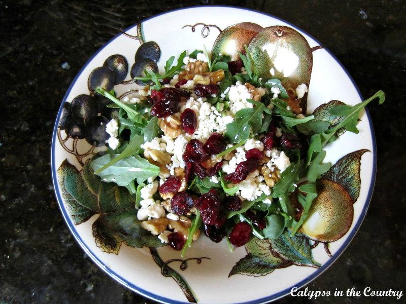 Arugula salad with cranberries
