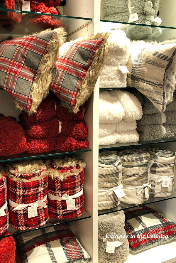 Red and White Throws and Pillows at Pottery Barn - Cozy Shopping Finds