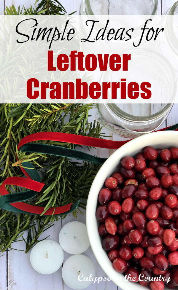 simple ideas for leftover cranberries
