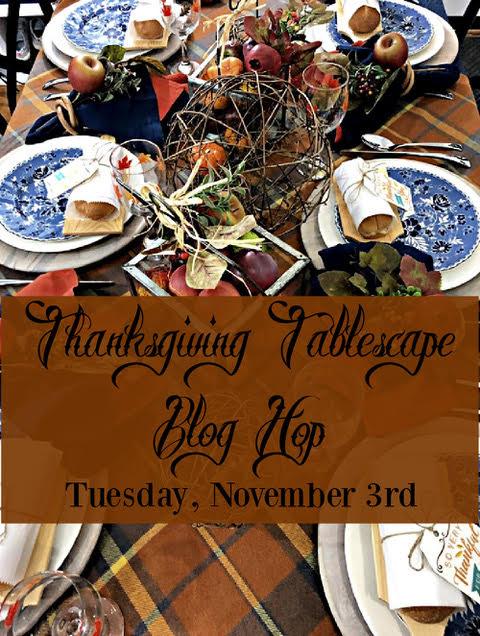 Thanksgiving tablescape blog hop